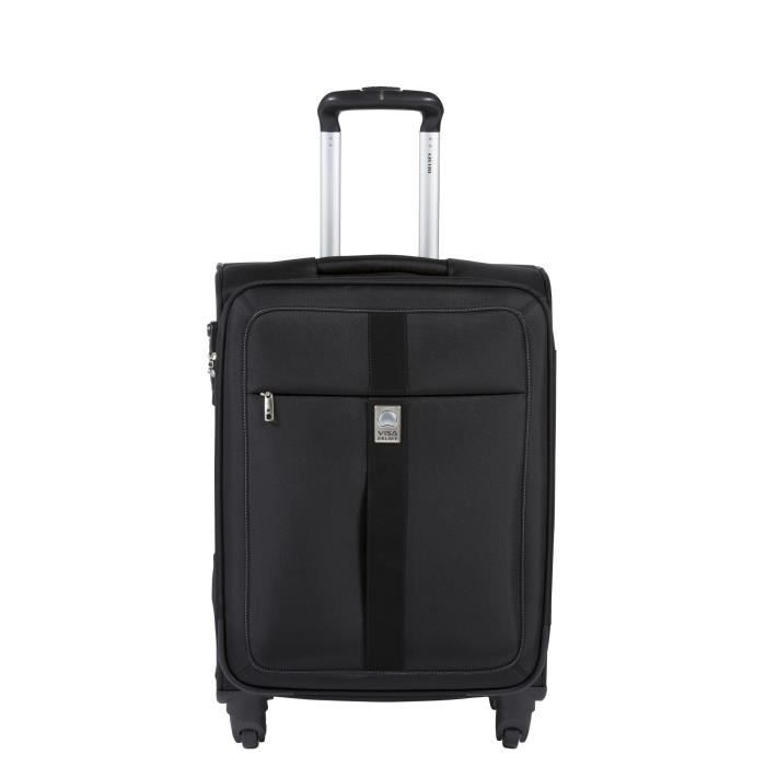 visa de delsey valise trolley 4 roues 60 cm sol o noir achat vente valise bagage visa de. Black Bedroom Furniture Sets. Home Design Ideas