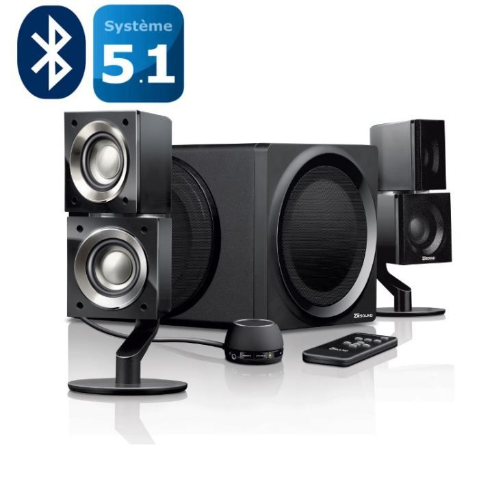 creative enceintes 5 1 t6 sii bluetooth prix pas cher cdiscount. Black Bedroom Furniture Sets. Home Design Ideas