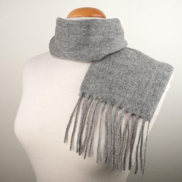 echarpe laine tissage fin gris uni achat vente echarpe foulard echarpe laine tissage fin g. Black Bedroom Furniture Sets. Home Design Ideas