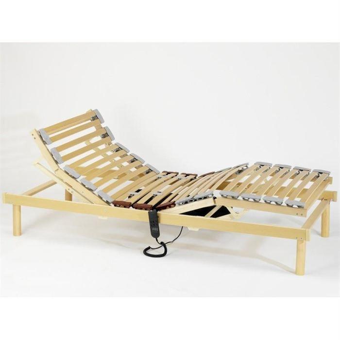 sommier lattes lectrique electroflex 80x200 cm achat vente sommier cdiscount. Black Bedroom Furniture Sets. Home Design Ideas