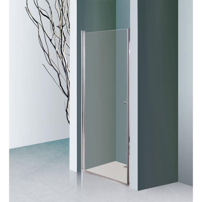 Creazur porte pivotante sans cadre dylane 90 cm achat vente porte de douc - Porte de douche occasion ...