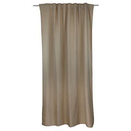 g zze rideau semi occultant tessin 140x255 cm moka pr t poser finition galon fronceur. Black Bedroom Furniture Sets. Home Design Ideas