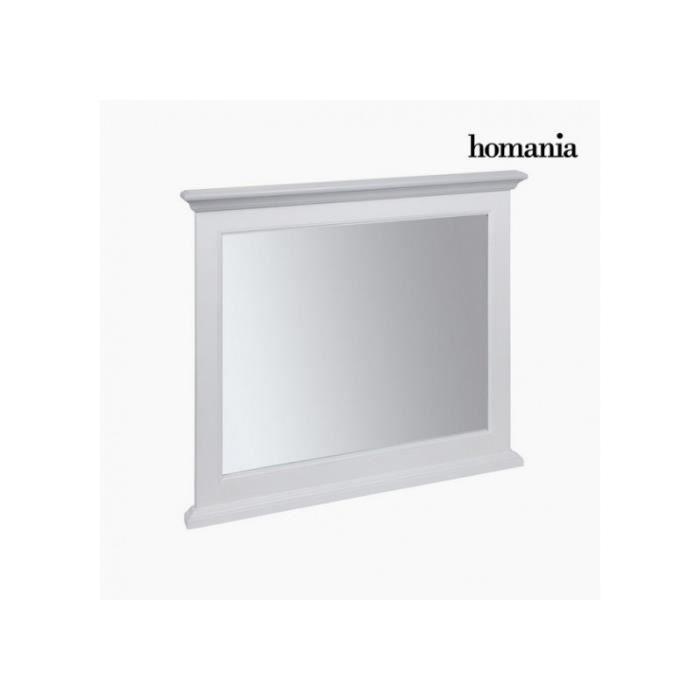 Miroir blanc romantique achat vente miroir blanc for Grand miroir carre