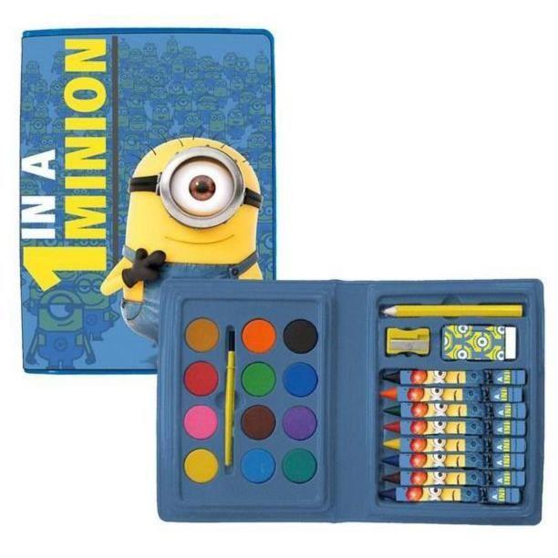 Minions boite de peinture minions achat vente kit peinture coloriage p - Boite de peinture acrylique ...