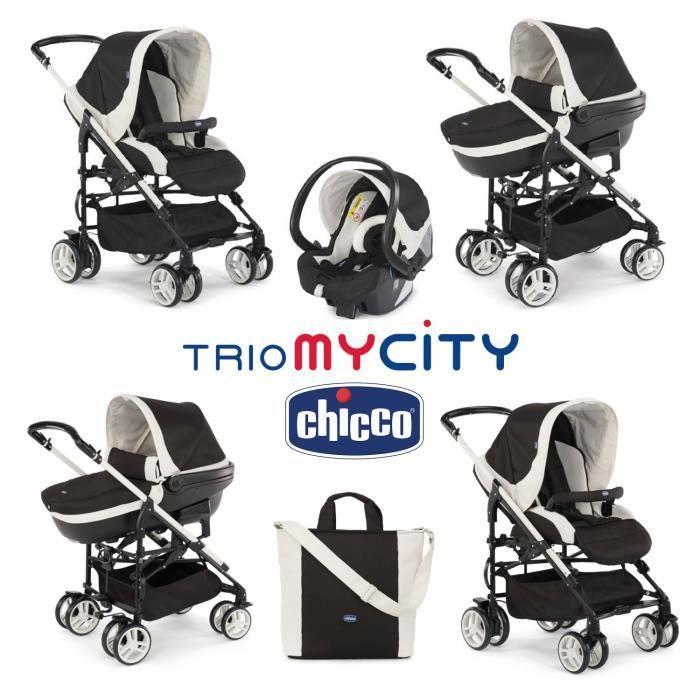 chicco poussette combin e 3 en 1 trio mycity black noir. Black Bedroom Furniture Sets. Home Design Ideas