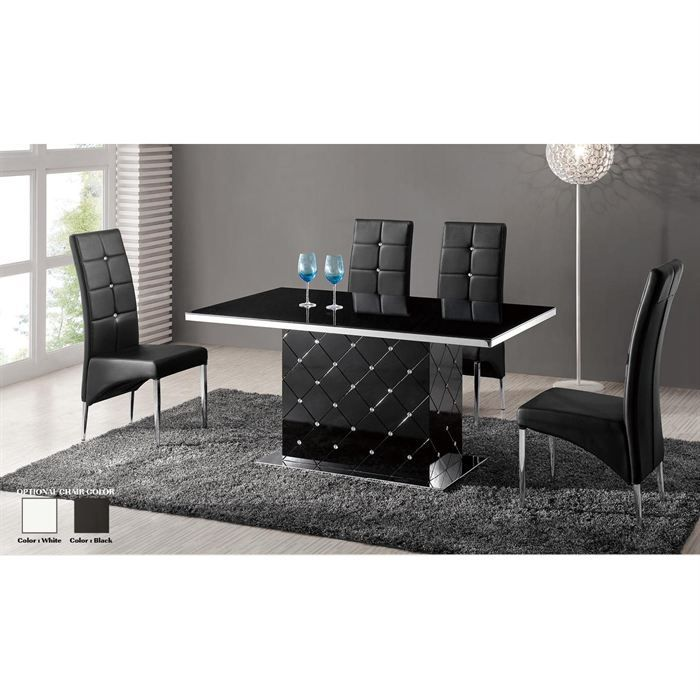 Table a manger noire laquee - Table salle a manger noire laquee ...