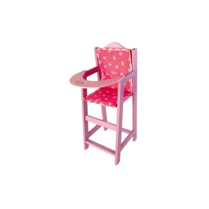Chaise haute bois achat vente accessoire poupee chaise for Chaise haute combelle bois