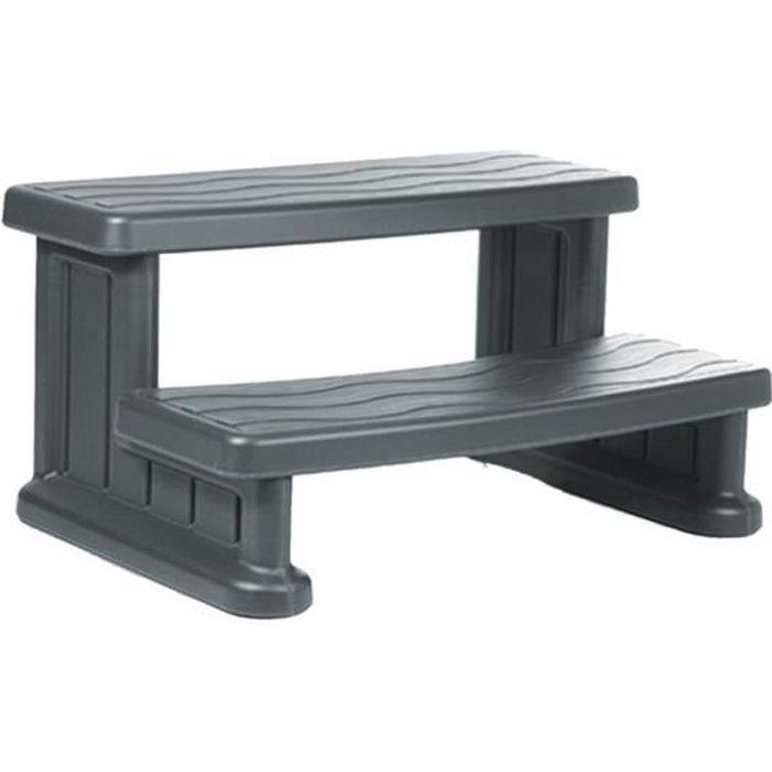 marche d 39 acc s pour spa gris achat vente marche. Black Bedroom Furniture Sets. Home Design Ideas