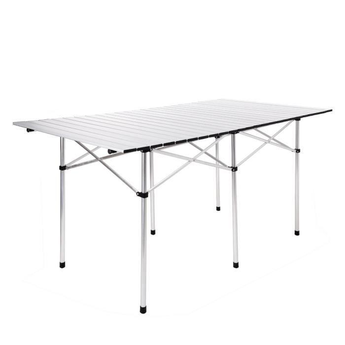 Table De Pique Nique Pliable Bbq Jardin Aluminium Avec Sac