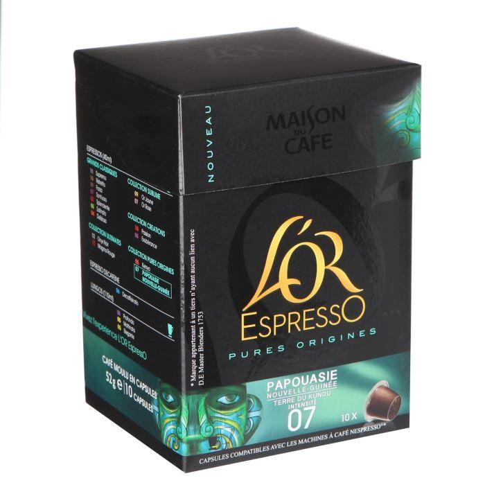 maison du caf l 39 or expresso de papouasie x10 capsules achat vente caf capsule mdc l 39 or. Black Bedroom Furniture Sets. Home Design Ideas