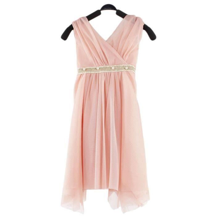 robe de soir e rose enfant fille chic et classique rose achat vente robe de c r monie. Black Bedroom Furniture Sets. Home Design Ideas