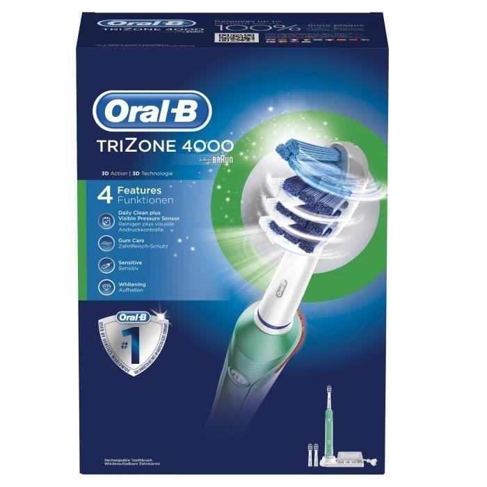oral b trizone 4000 brosse dents lectrique. Black Bedroom Furniture Sets. Home Design Ideas