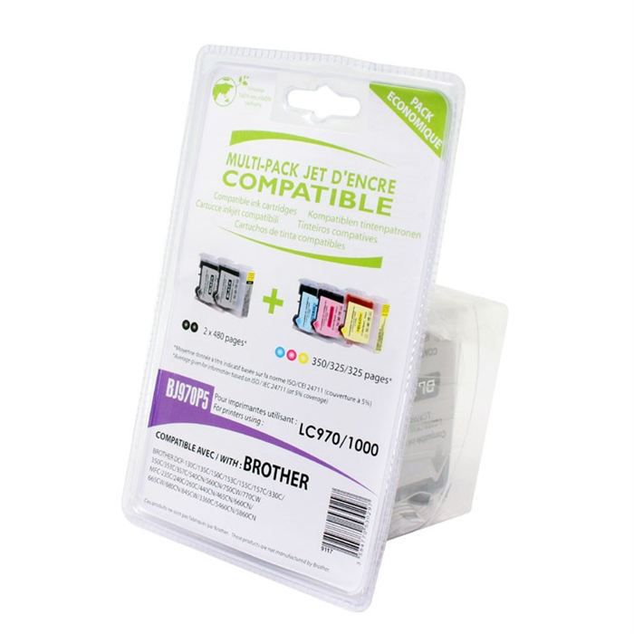 Pack 5 cartouches compatibles brother lc970 1000 prix - Cartouche weltico c6 pas cher ...