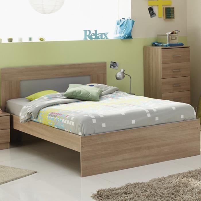 paris prix lit adulte 160x200cm max beige achat vente structure de lit paris prix lit. Black Bedroom Furniture Sets. Home Design Ideas