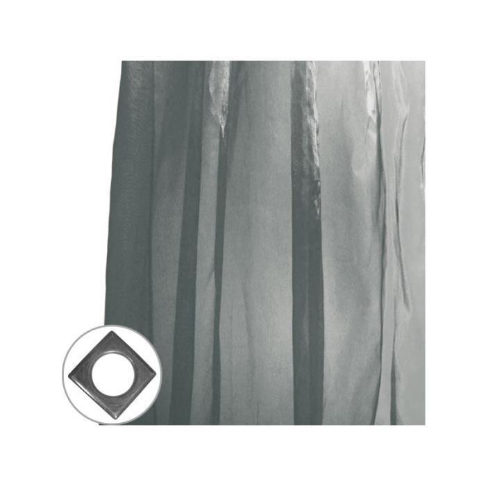 rideau iris pattes 140x250 cm noir et argent achat vente rideau 100 polyester cdiscount. Black Bedroom Furniture Sets. Home Design Ideas