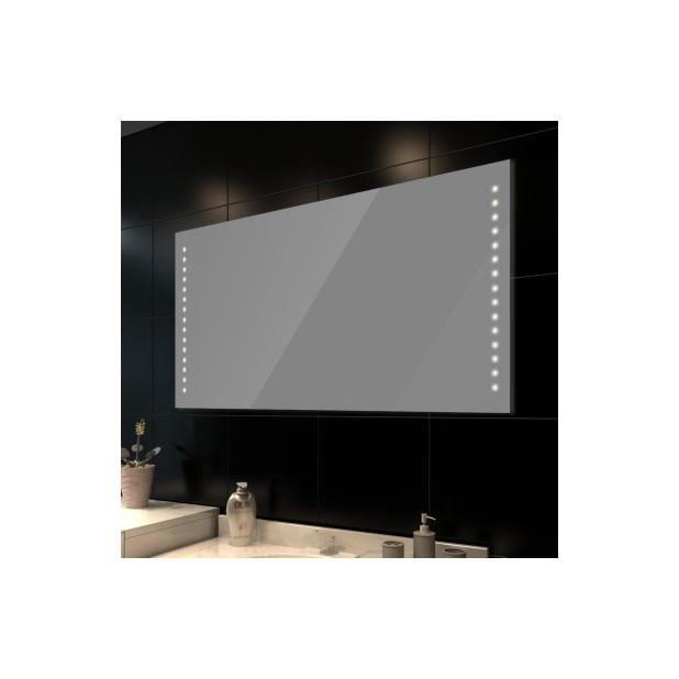 Superbe miroir de salle de bain avec clairage led 100 x for Miroir salle de bain avec television