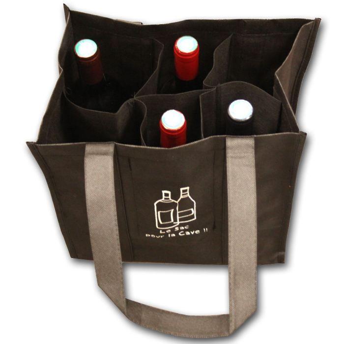 sac tissu 6 bouteilles de la cave la cuisine achat. Black Bedroom Furniture Sets. Home Design Ideas