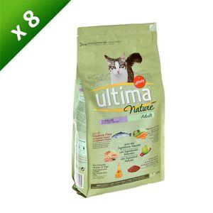 ULTIMA Nature Croquettes au saumon - Pour chat junior stérilisé - (x8)