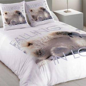 housse de couette ours achat vente housse de couette ours pas cher cdiscount. Black Bedroom Furniture Sets. Home Design Ideas