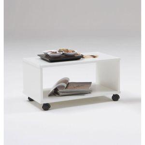 Tom Table Basse Sur Roulettes Blanche Achat Vente