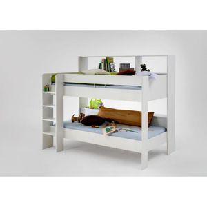 emilio lits superpos s pour enfant blancs achat vente lits superpos s emilio lits superpos s. Black Bedroom Furniture Sets. Home Design Ideas