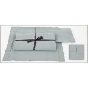 nappe nais celadon couleur celadon taille 170x170 achat vente nappe de table cdiscount. Black Bedroom Furniture Sets. Home Design Ideas
