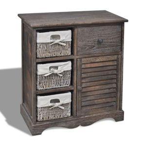 TABLE D'APPOINT Commode / table d'appoint / armoire en bois de ran