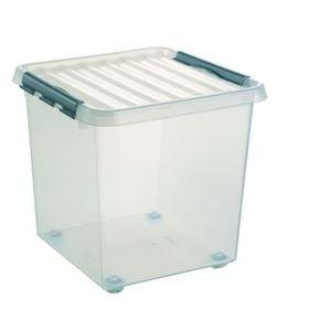 boite de rangement plastique sur roulettes achat vente boite de rangement plastique sur. Black Bedroom Furniture Sets. Home Design Ideas