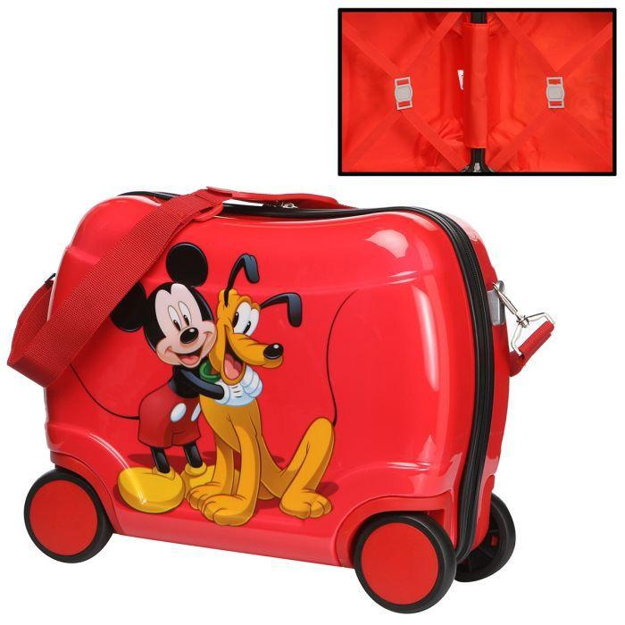 Disney trolley cavalier mickey plutot mixte rouge achat vente valise bagage disney - Mickey et plutot ...