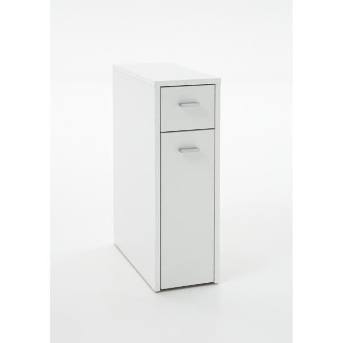 denia meuble salle de bain wc 20x45 cm blanc achat vente colonne armoire wc denia meuble. Black Bedroom Furniture Sets. Home Design Ideas