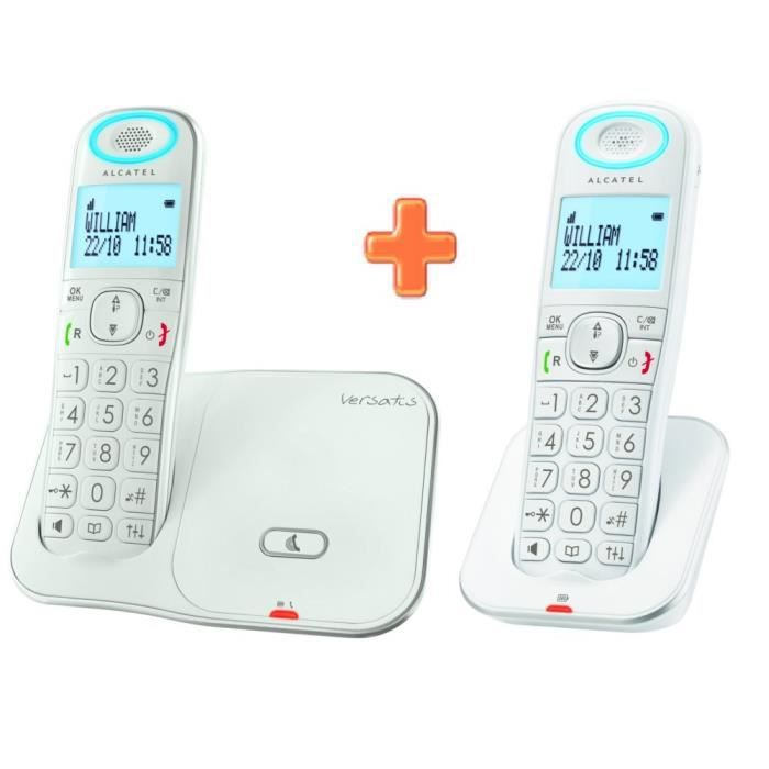 alcatel xl350 duo blanc sans r pondeur achat t l phone. Black Bedroom Furniture Sets. Home Design Ideas