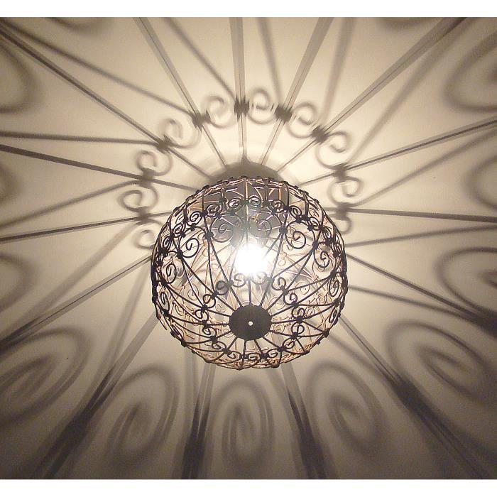 lustre plafonnier lampe marocain 35cm en fer forg achat vente lustre plafonnier lampe mar. Black Bedroom Furniture Sets. Home Design Ideas