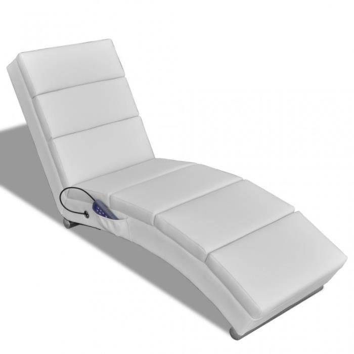 Fauteuil de massage chaise relaxation lectrique blanc 1702014 achat vent - Chaise massage electrique ...