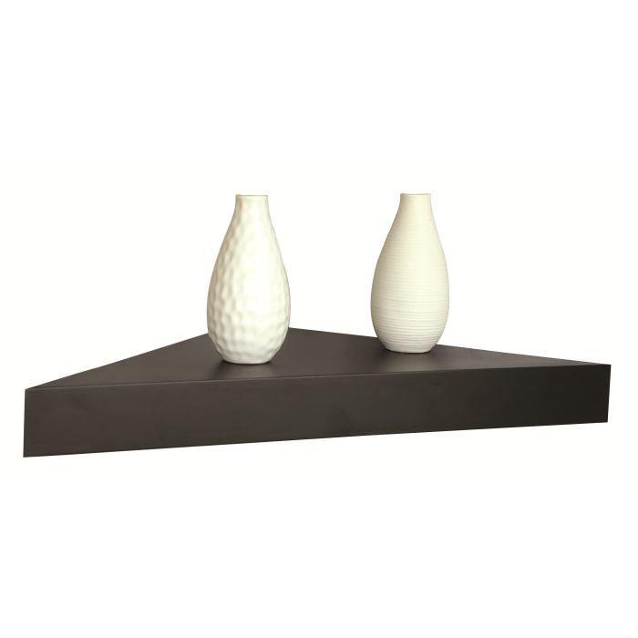 tablette de coin noire achat vente etag re murale tablette de coin noire cdiscount. Black Bedroom Furniture Sets. Home Design Ideas