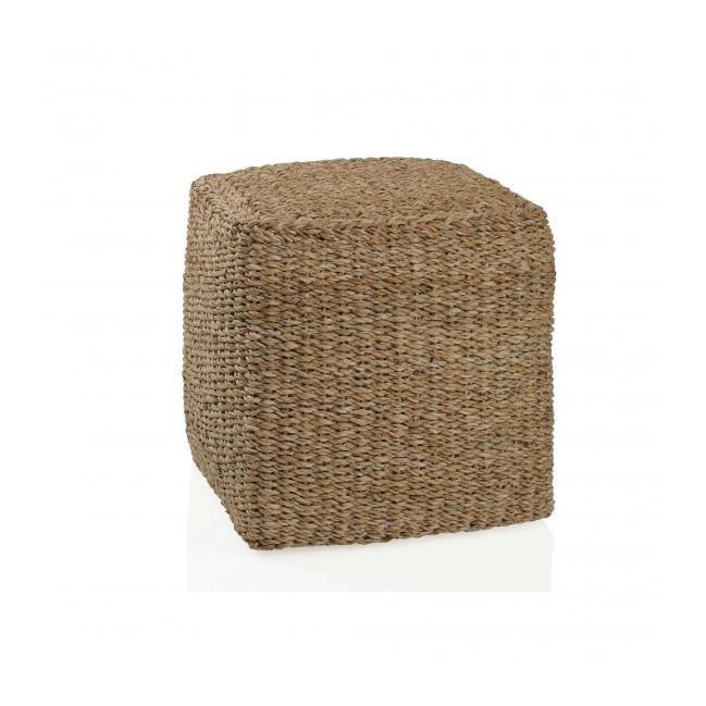 pouf carr en rotin achat vente pouf poire cdiscount. Black Bedroom Furniture Sets. Home Design Ideas