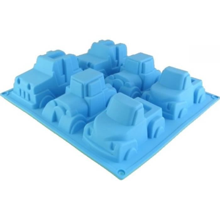 Moule Silicone 3D 6 VOITURES 4x4, pick,up Gateau, terrine, Chocolat, patisserie