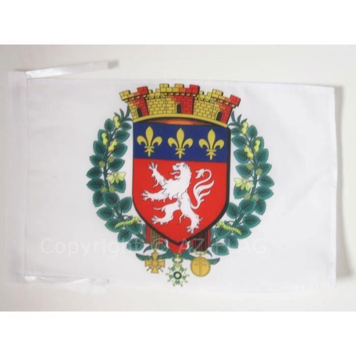Drapeau ville de lyon 45x30cm lyonnais haute qualit for Linge de maison haute qualite