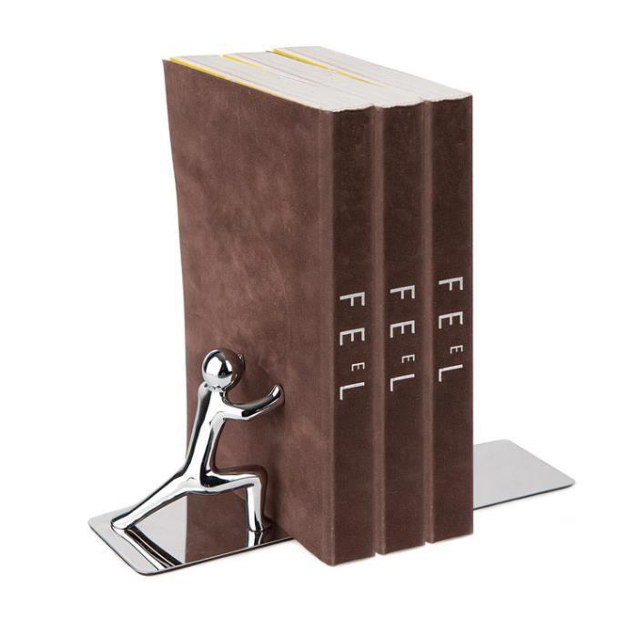 serre livres 39 mister strong 39 chrom zinc achat vente serre livres caoutchouc cdiscount. Black Bedroom Furniture Sets. Home Design Ideas