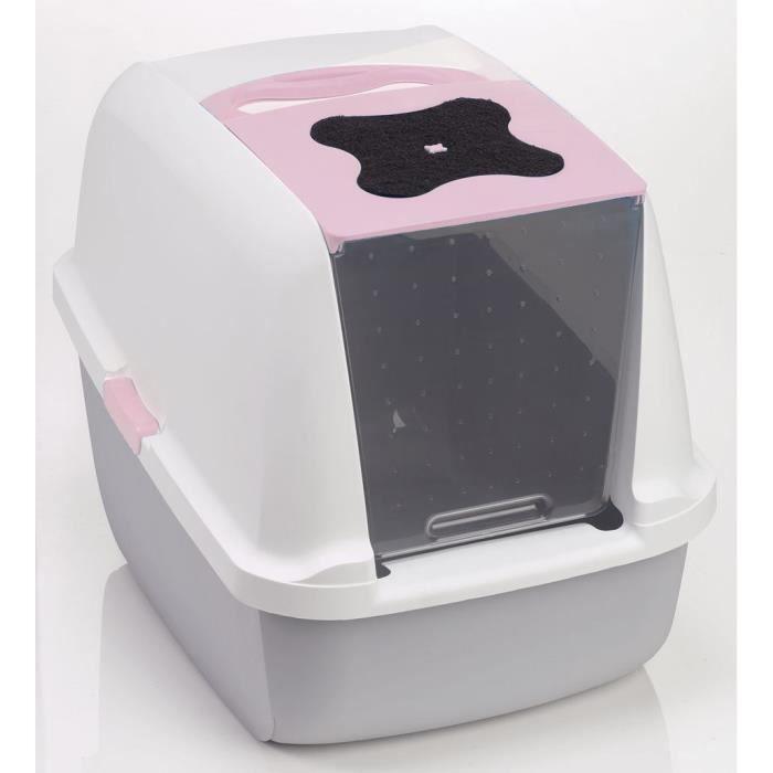 maison de toilette rose 40x55x45 cm achat vente maison de toilette maison de toilette rose. Black Bedroom Furniture Sets. Home Design Ideas