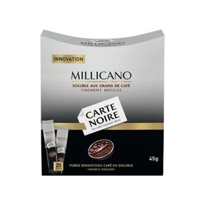 carte noire caf soluble millicano 25 sticks 45g achat vente caf soluble carte noire. Black Bedroom Furniture Sets. Home Design Ideas