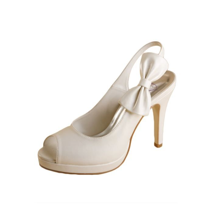 dymastyle mariage chaussure de - Chaussures Compenses Blanches Mariage