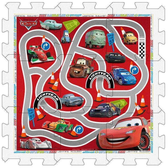 tapis puzzle 9 dalles cars de. Black Bedroom Furniture Sets. Home Design Ideas