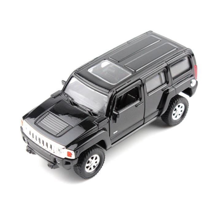 haut de gamme welly hummer h3 noir 5 chelle 1 34 43629cw mini voiture de collection achat. Black Bedroom Furniture Sets. Home Design Ideas