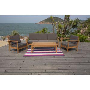 Tables chaises fauteuils achat vente tables chaises fauteuils pas cher les soldes - Salon de jardin en eucalyptus ...