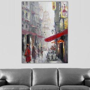 Tableau rouge et gris achat vente tableau rouge et for Tableau gris et rouge