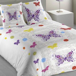 housse de couette papillon achat vente housse de couette papillon pas cher les soldes sur. Black Bedroom Furniture Sets. Home Design Ideas