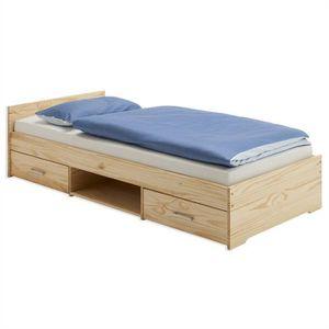 lits 90x200 avec rangements achat vente lits 90x200 avec rangements pas cher cdiscount. Black Bedroom Furniture Sets. Home Design Ideas