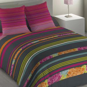 parure de lit 240x260 achat vente parure de lit 240x260 pas cher soldes cdiscount. Black Bedroom Furniture Sets. Home Design Ideas