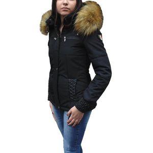 DOUDOUNE Doudoune femme fourrure à capuche avec cuir