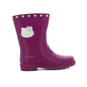 BOTTE Botte de pluie hello kitty kirain violet caoutchou
